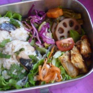 サワラと大葉おむすびのお弁当