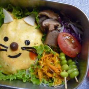 ネコさんオムライスのお弁当