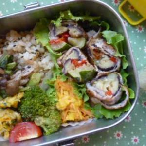夏野菜の肉巻きお弁当