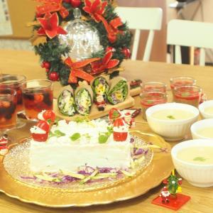 【開催レポ】お食事ケーキも作る、ベジなクリスマスパーティー