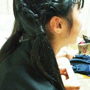 水泳短期教室、ゆかたまつりのヘアスタイル