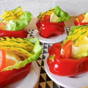 小夏とかぼっコリーのサラダ