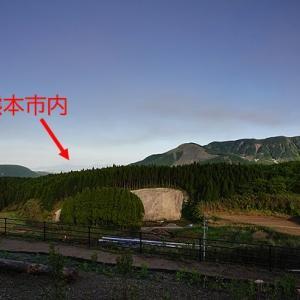 我が家のリビングから熊本城が見える!
