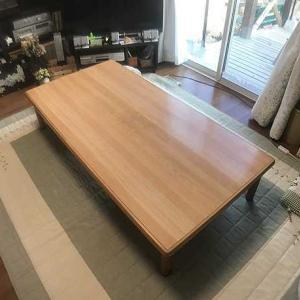 欅のテーブルを作りました