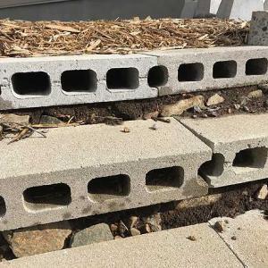 ブロックの階段を造り変えました