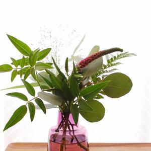 フラワーキッチンのグリーンブーケ6回目◆ピンクのベロニカが可愛い
