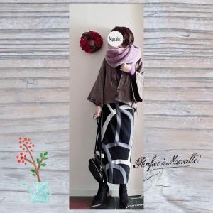 上下着物風の和風コーデ|SOUSOU伯爵羽織宮中袖