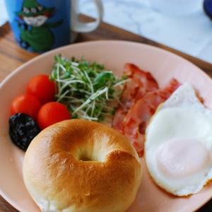 ベーグル朝ごはんと、楽天マラソン♪