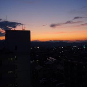 梅雨明け前日の夕焼け
