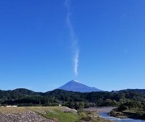 富士の初雪