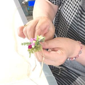 小花いっぱいのブレスレット*Haku