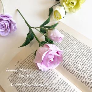 【ボタニカルコース1】バラが完成しました♫