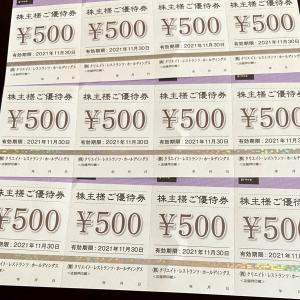 クリレスから株主優待券☆配当金も!!
