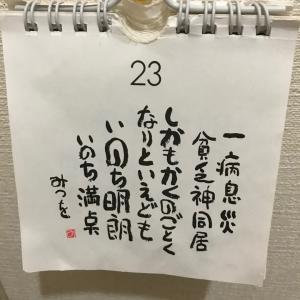 今日の日めくりカレンダー ~ いのち明朗 いのち満点