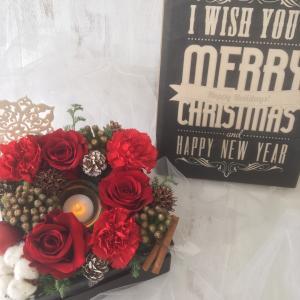 クリスマスレッスンの最終日は、フラワーボックスでした。