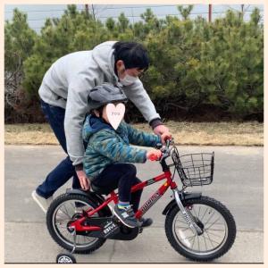 3y2m 自転車練習と絵本の定期購読。