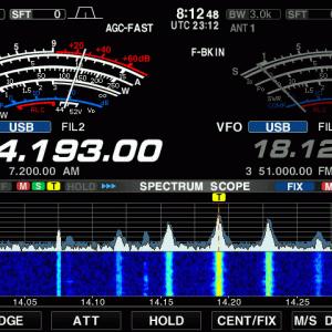 今朝は子も孫も出ている14MHzのノイズ様電波