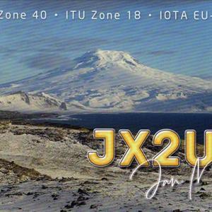 近着QSL(紙) JX2US 30m/CW