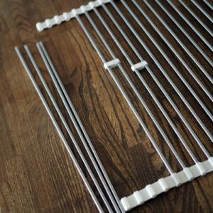 ニトリの畳める水切りラックは調節できる