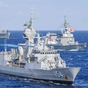 西フィリピン海で4か国が合同演習