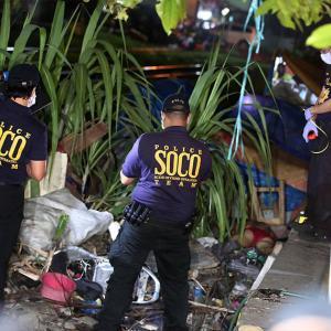 フィリピン国家警察と麻薬容疑者が銃撃戦