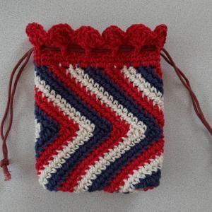 かたます編みの巾着完成