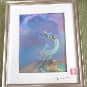 草場先生の「富士に雲龍」