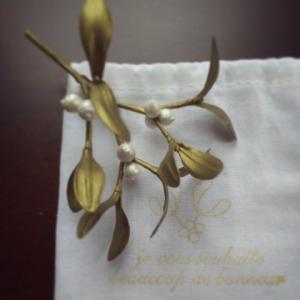 ペインティングフラワー・金色ヤドリギのひみつ