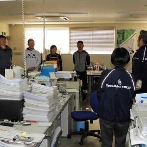 競輪選手養成場 佐賀の生徒たちが帰省の挨拶に来てくれました。