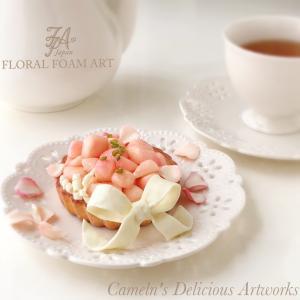 桃とホワイトチョコレートの饗宴