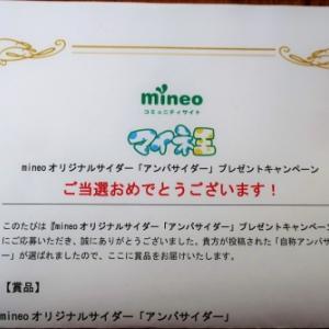 mineoオリジナルサイダー「アンバサイダー」を飲んでみた。