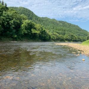 盆過ぎの米代川!