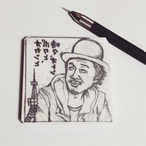 *2019年の年賀状は、「東京」をテーマに似顔絵はんこで!