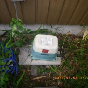浄化槽のエアポンプ(ブロワー)と扇風機が立て続けに・・・・・。毎日が修理の日々。まずは浄化槽ブロワーから。