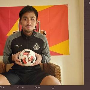 【2020/06/26締切】:名古屋グランパス 前田直輝選手のサッカーボールサイン入りボールをプレゼント