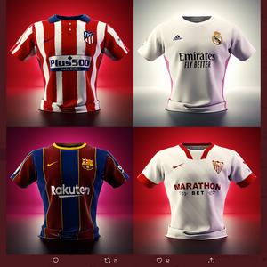 【2021/05/11締切】:ラ・リーガ 上位4チームの選手名・ナンバー入りユニフォームが当たる!