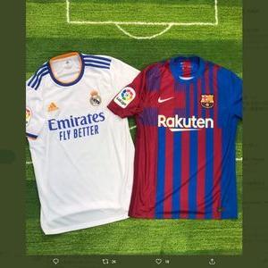 【2021/11/01締切】:バルセロナとレアル・マドリーのホームユニフォームが当たる!