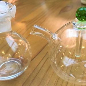 穂高神社の後には、すぐ近くの「あづみ野バザール若松屋」で、お茶でも。ハリオのこぼれない醤油さしプレゼント中。