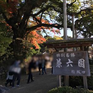 旅行一日目⑤ 石川県『兼六園 その1』(2020.11.14)