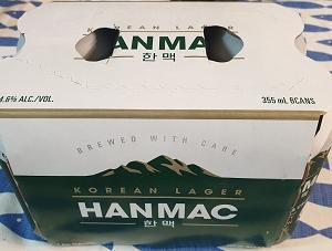 韓国のビール「HANMAC」(한맥)