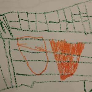 4歳のお絵描き