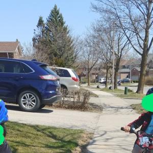 双子連れ自転車