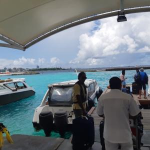 モルディブ旅行記③スピードボートからのチェックイン!