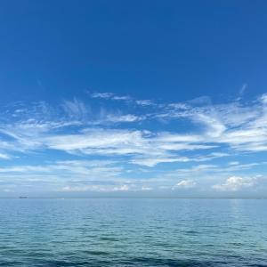 久しぶりの海の空