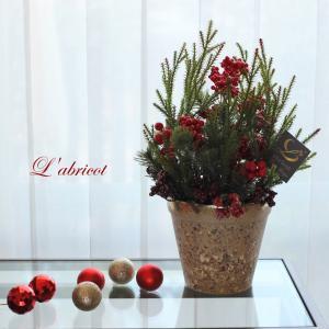 5種類の赤い実がはいっています。クリスマスアレンジ。生徒さんからのリクエストで...