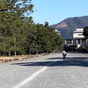 京都御苑から見た今日の大文字