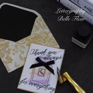 香水瓶のメッセージカード
