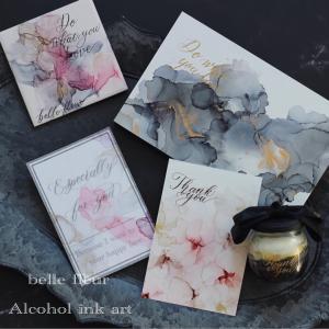 belle fleurアルコールインクアートスタートしました^ ^
