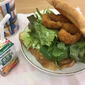 ルッコラのサンドイッチ