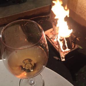 ワインと焚火